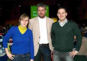 Dieter Janecek mit Lisa Badum und Andrej Novak, Grüne Bayern