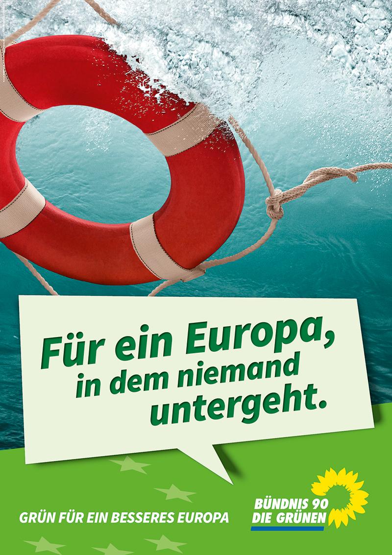 Grüne Plakat